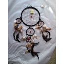 dreamcatcher 22cm cuir marron