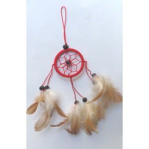 dreamcatcher 5 cm rouge